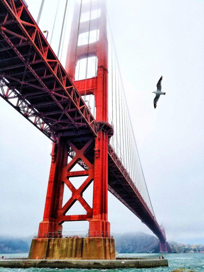 San Francisco red bridge